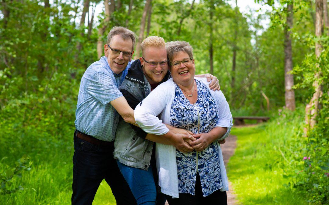 Gezinsfotografie Johan, Gerdien en Davey